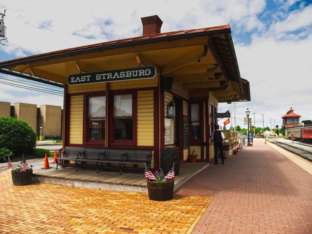 The station house at the East Strasburg Station.