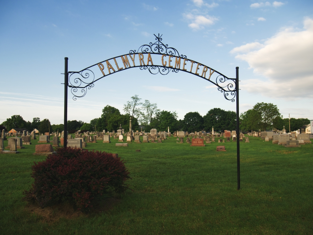 Old Sign in Palmyra Cemetery