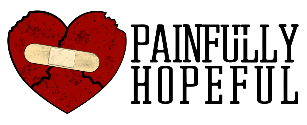 New Painfully Hopeful Logo. A broken heart covered by a bandaid