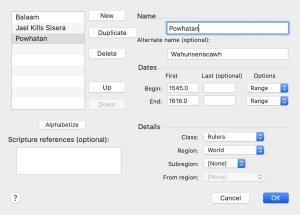 Add user item dialog for the Accordance Timeline