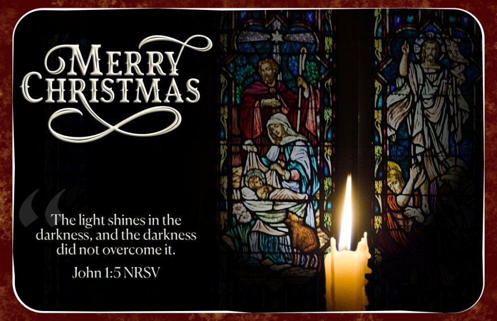Merry Christmas. The Light Shines in the Darkness