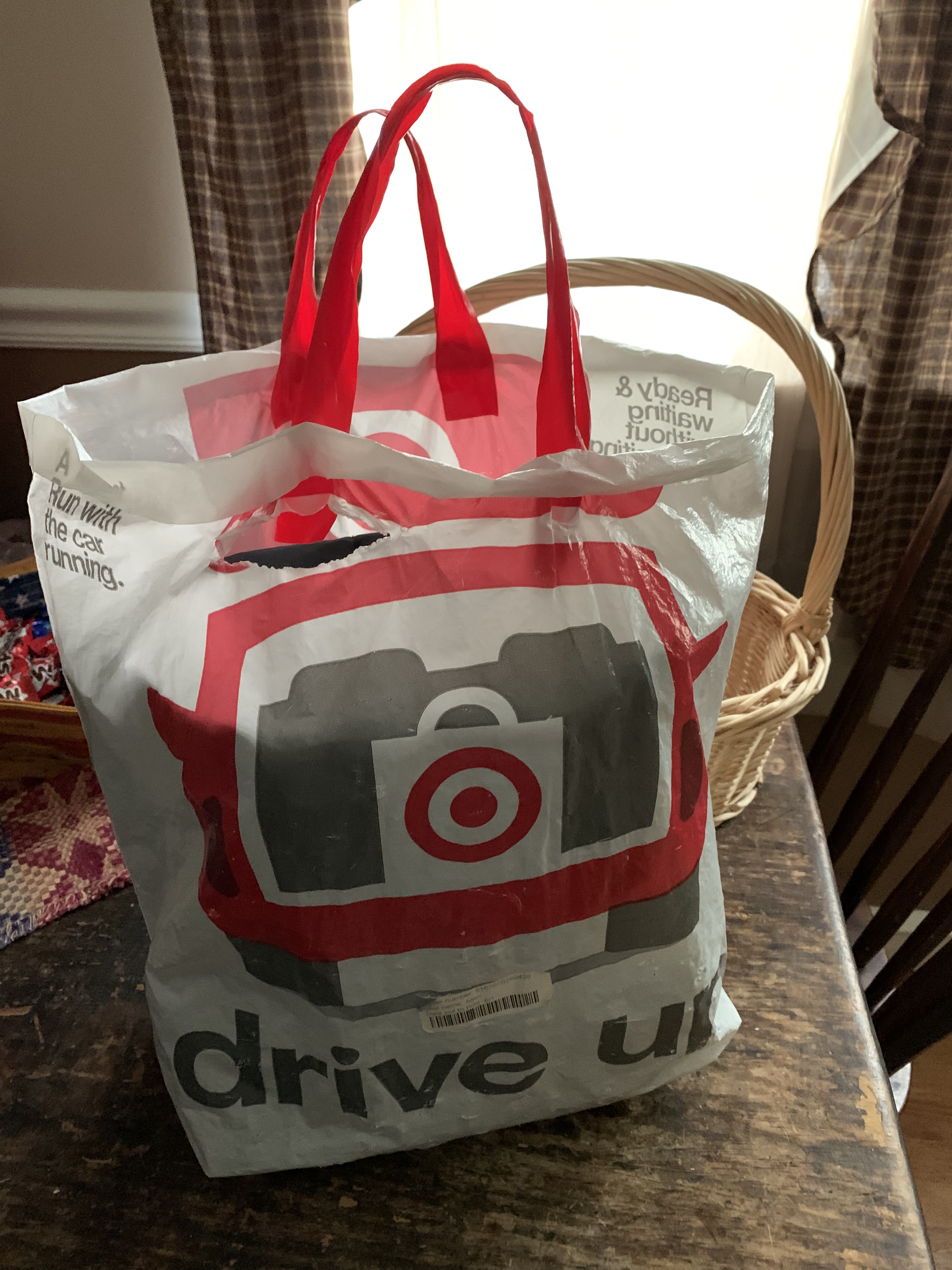 A Target Bag, worn with almost 18 months of use.